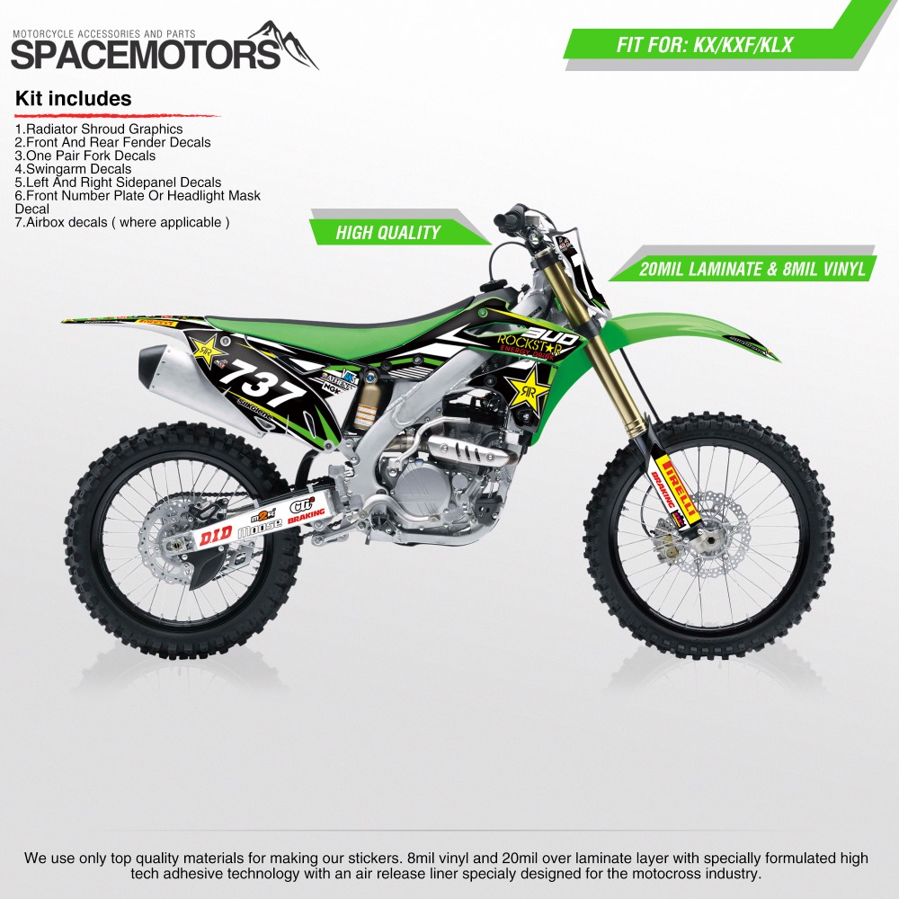 3M 28 mil decals Stickers wrap for motorcycle KX KLX KXF F 85 100 250 450