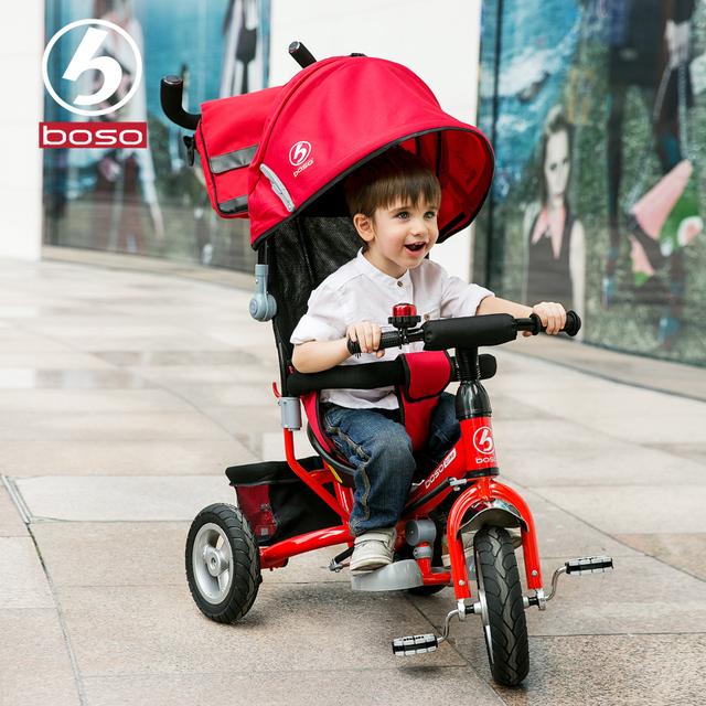 Boso nueva llegada bebé triciclo triciclo de niños con ruedas inflables de alta calidad bebé de la manera walker bebé bicicleta