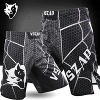 Casual Shorts Spider Print LOGO Training Shorts Spider Web Pattern Elastic Crotch Black Spider Shorts