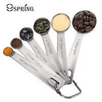 6Pcs Measuring Spoons Stainless Steel Measuring Tools Kitchen Measuring Spoon Set Tablespoon Spice Coffee Scoop Kitchen Gadgets|Measuring Spoons| |  -