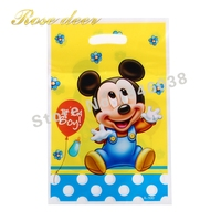500pcs Lot Baby Mickey Theme Party Gift Bag Party Decoration Plastic Candy Bag Loot Bag For