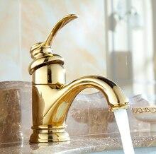 Высокое качество золотой латуни бассейна кран горячей и холодной ванной кран раковина кран смесителя на бортике