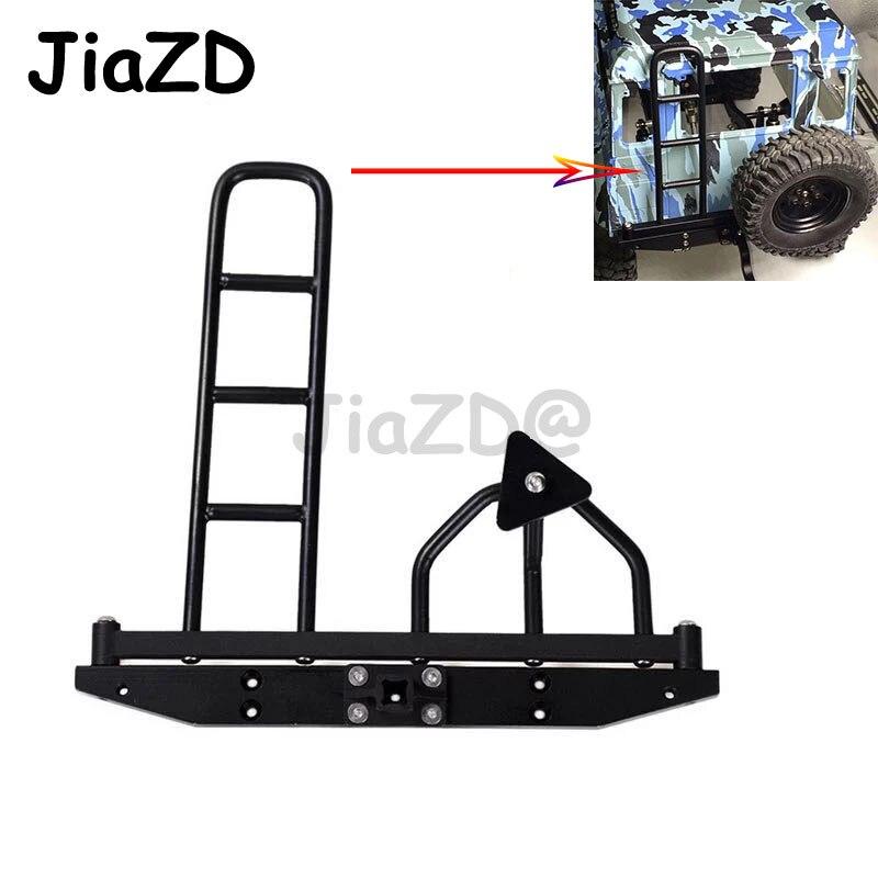 Pare-chocs arrière en alliage d'aluminium de haute qualité RC 1/10 avec support et échelle de pneu de rechange pour chenille axiale SCX10 D90 D110 1/10 de 90046 RC