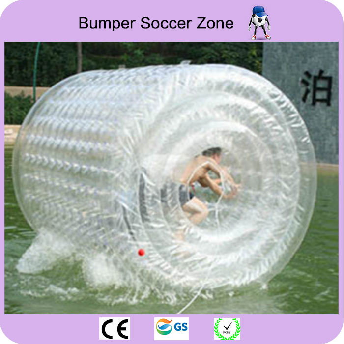 Free Shipping Clear Color Inflatable Roller Ball On Water Ball Infaltable Water Roll For Kids And Adults Water Game 2017 popular inflatable water slide and pool for kids and adults