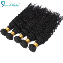 Panse Hair Peruvian Deep Wave Krøllet Hår Vævning 100% Human Hair Extension 3 Bundle Per Lot 100 g 1B Hair Bundles