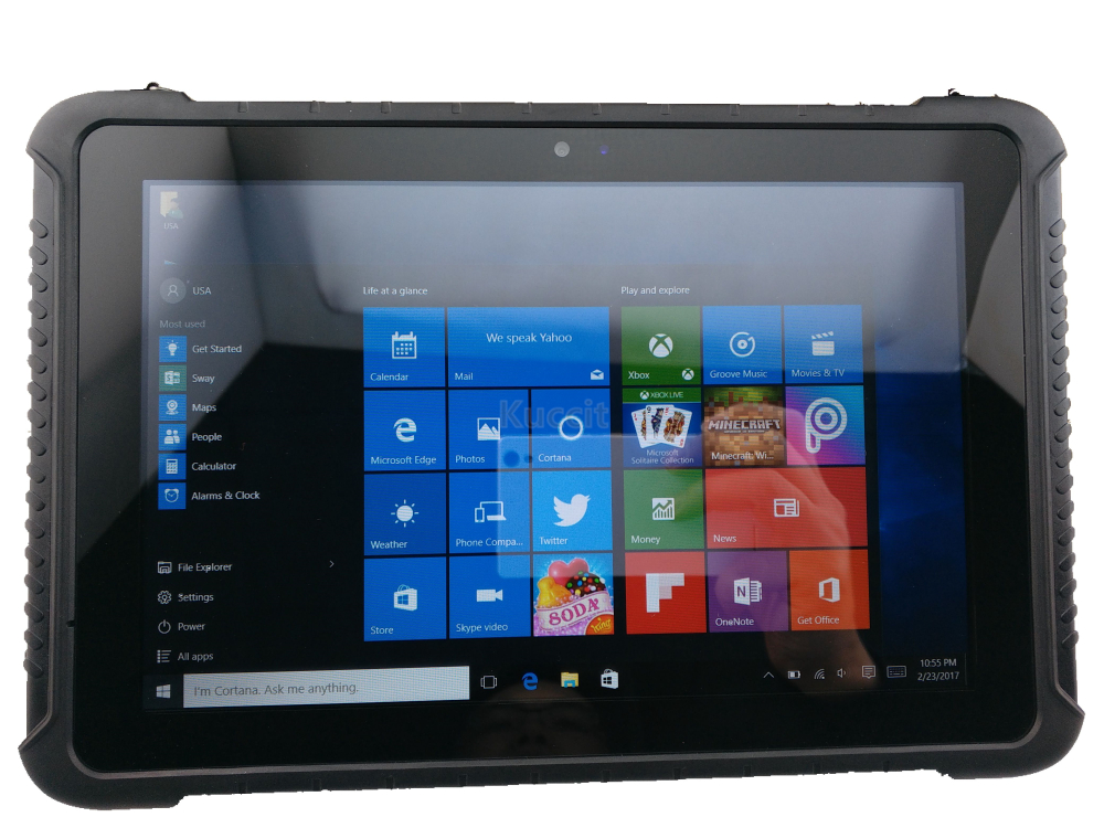 "Image 3 - China Industrial Rugged Tablet PC Touch Windows 10 Pro 10.1"" tough Waterproof Phone Android 4G LTE Fingerprint Reader toughbook-in Cellphones from Cellphones & Telecommunications"