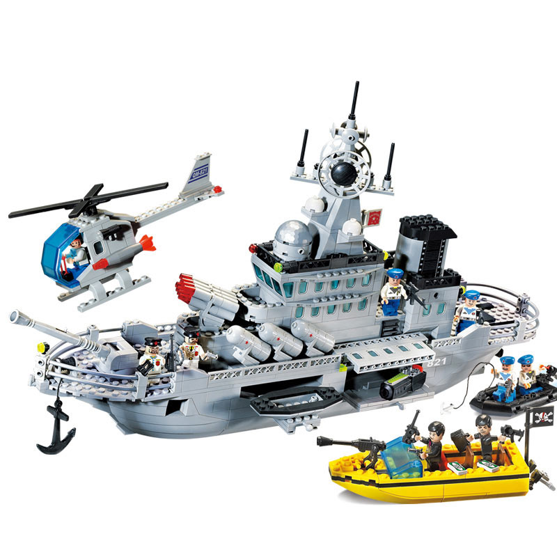 WMX 821 Military Series Missile Cruiser Building Blocks Educational Construction Bricks DIY Building Toy Children Gift