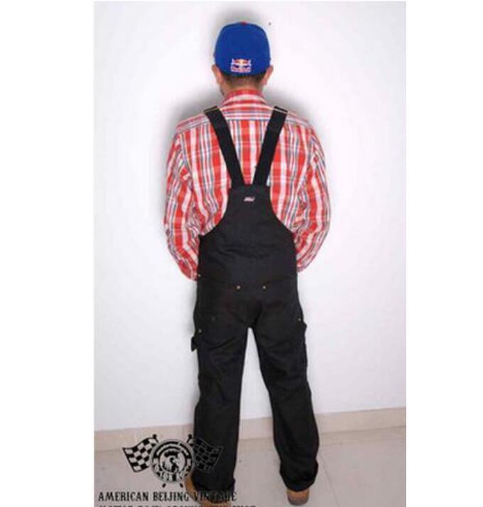 Nouveau 2017 Hommes de vêtements Vintage moto bretelles salopette bib  pantalon bretelles pantalon d une seule pièce salopette costumes dans  Salopette de ... 903310dfd13