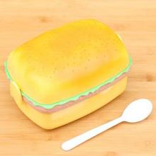 700ML Top Quality Huge Hamburger Novelty for BigMac Portable  Food Picnic Container  Children Kid Favorite