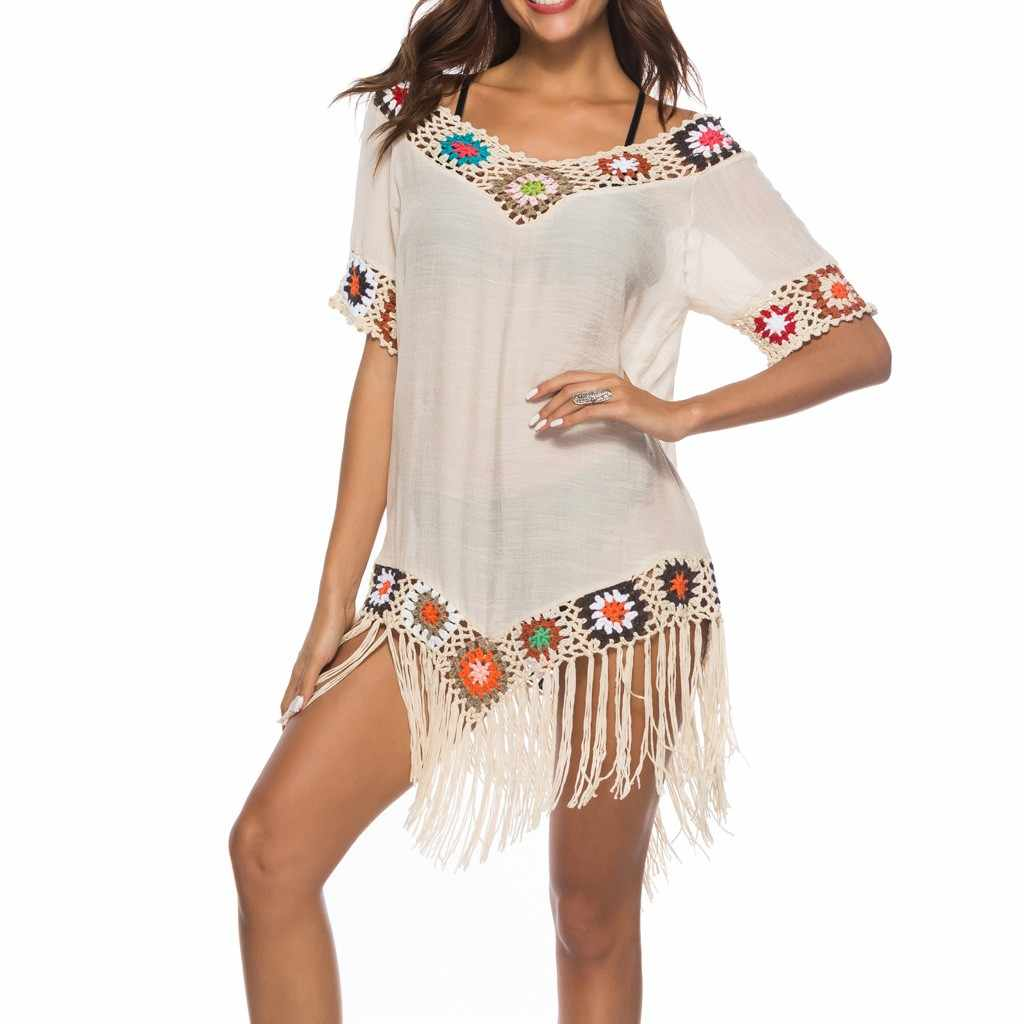 Strand Cover Up Badeanzug Cover Up Häkeln Beachwear Bade Cover Up Strand Kleid damen strand kleider # XTN