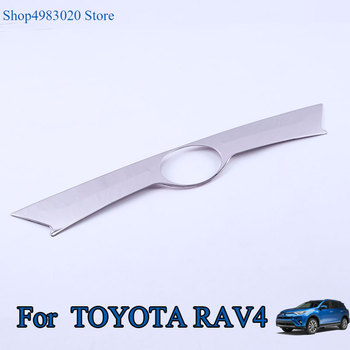 For Toyota RAV4 RAV 4 2013 2014 2015 Stainless Steel Rear Trunk Lid Cover Trim Tailgate Strip Back Door Boot Garnish Accessories image