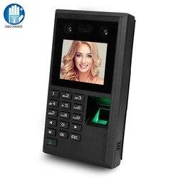 Biometrische Gesichts Fingerprint Passwort Teilnahme Maschine Access Controller Employe Überprüfung-in Recorder 2,8 inch Bildschirm DC12V USB