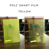 29CM 21CM Smart Pdlc Film For Rear Projection Screen Film Yellow Color Self Adhesive Hot Sale