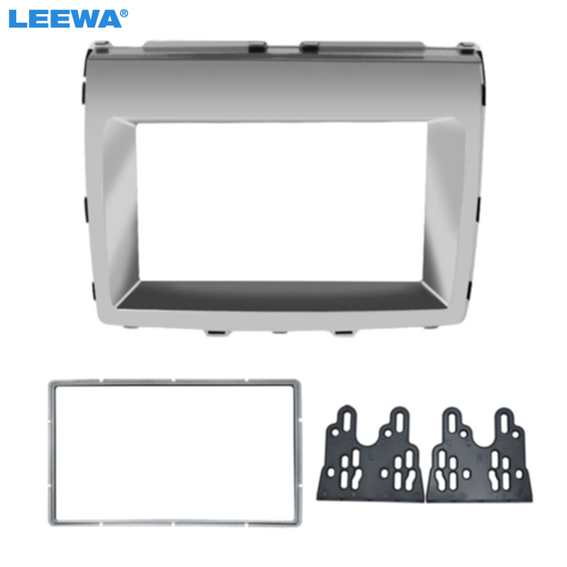 LEEWA 2DIN Car Stereo Radio Fascia Frame For For Mazda MPV 2006+ Mazda 8 Audio Interface Plate Panel Dash Trim Kit #CA5013