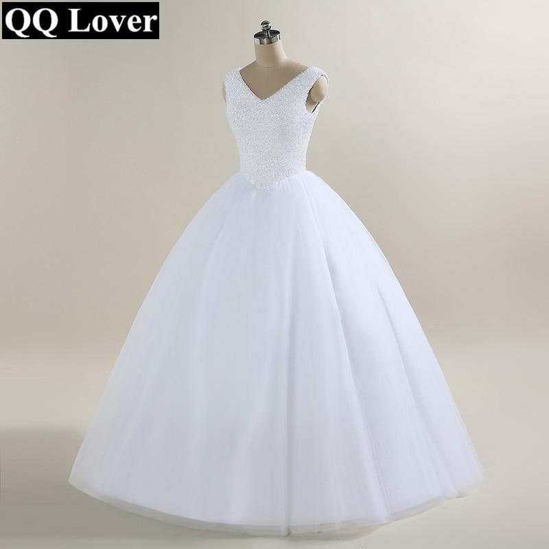 QQ Lover 2018 New Bling Bling Ball Gown Wedding Dress Tank Bridal ...