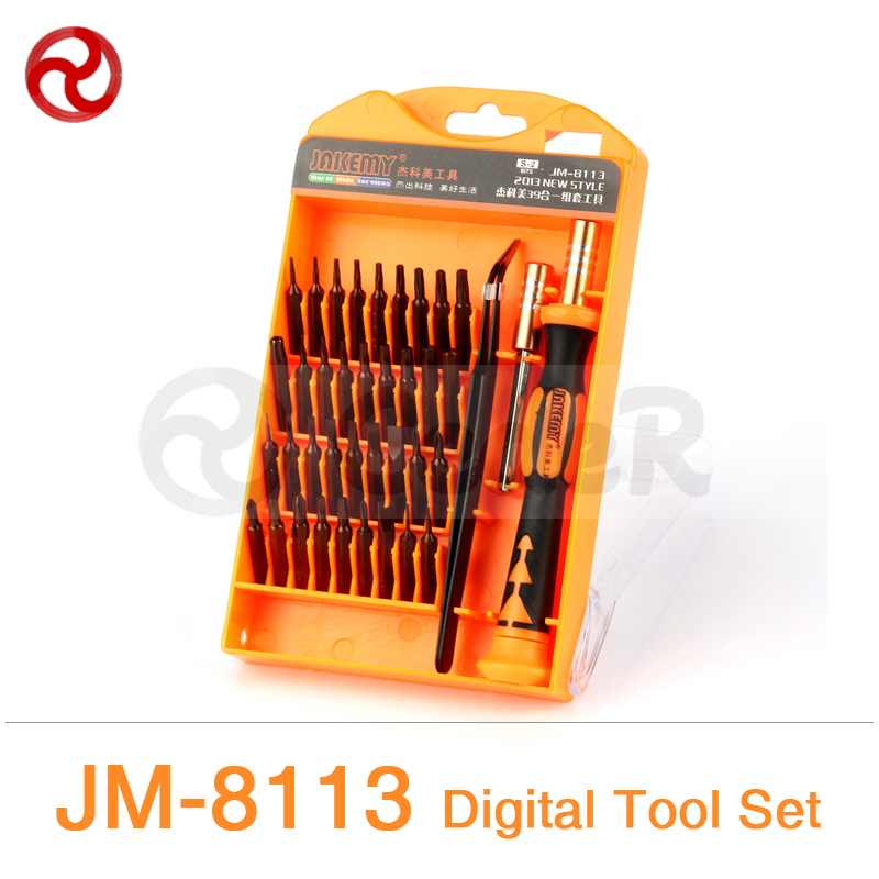 JAKEMY 39in1 Digital Repairing Tools Set iPhone Smartphone Laptop Computer Precision Electronic Magnetic Screwdriver Kit JM-8113