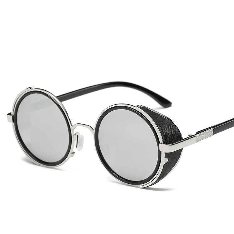 LONSY Steampunk Sunglasses Wanita Putaran Kacamata Kacamata Baru Pria - Aksesori pakaian - Foto 3