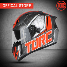 TORC New full face helmet Casco motorcross motorcycle Fashion Professional vintage  Dual lenses T128