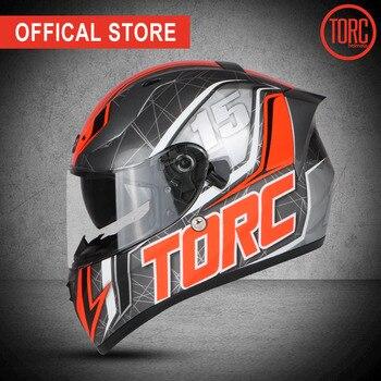 Torc Nieuwe Full Face Helm Casco Motorcross Helm Motorhelm Fashion Professionele Helm Vintage Dual Lenzen T128