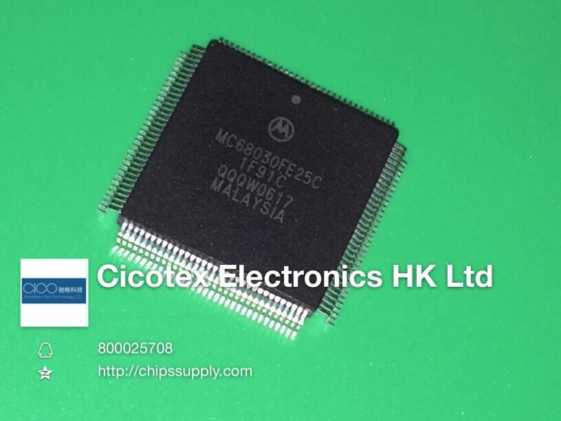 MC68030FE25C 68030 MQFP132 IC MPU M680X0 25MHZ 132CQFP 68030FE25C