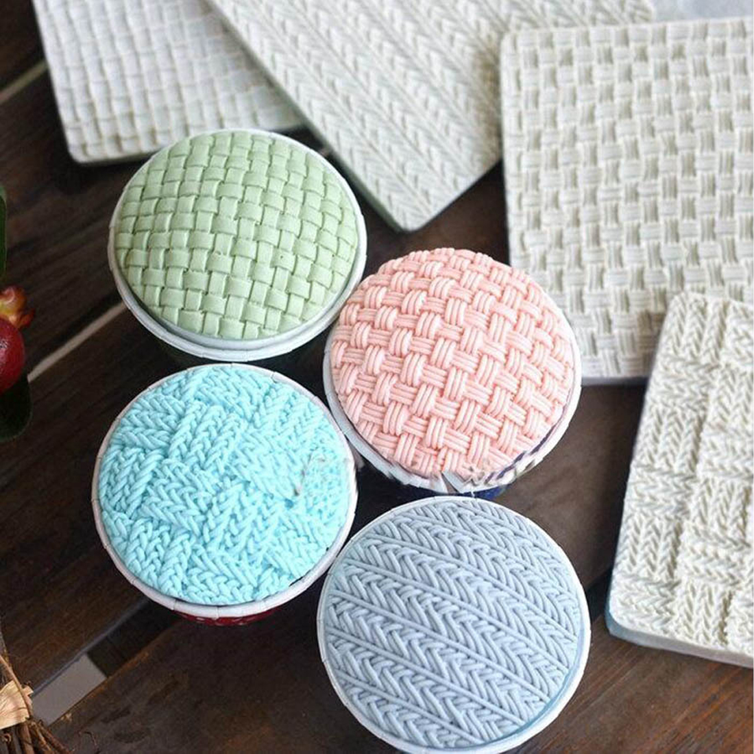 Hot Sale Sweater Woolen Grain Silicone Cake Mold Chocolate Jelly Baking Mould Sugar Craft Tools Fondant Cake Decorating