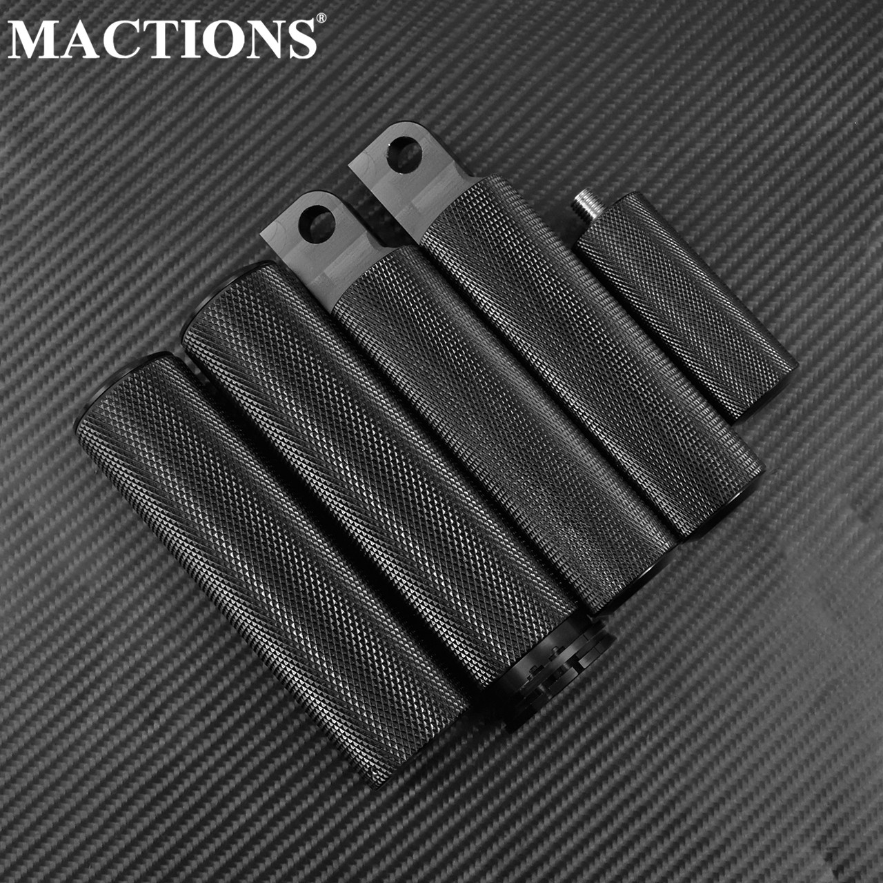 Motorcycle CNC Handlebar Grips Foot Pegs Shift Peg For Harley Sportster XL1200 883 48 Softail Dyna Touring,Black