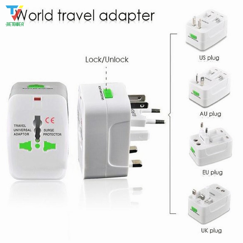 Adapter-Plug Power-Adaptor Multi-Purpose Universal Travel Global With AU US UK Socket-Converter