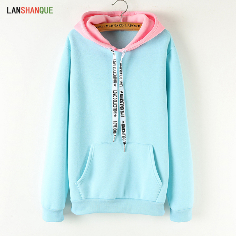 2019 Women's Winter New Solid Color Casual Top Hoodies Sweatshirts Sleeve Long Sleeve Sweatshirt Sportswear(China)