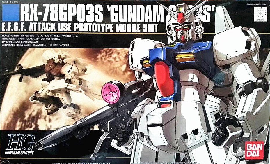 1PCS bandai 1/144 HGUC 025 RX-78GP03S Gundam GP03 Stamen Mobile Suit Assembly Model Kits Anime action figure lbx toys dmx 16w rgbw led plastic fiber optic star ceiling kit lights 200pcs 0 75mm 2m optical fiber lighting 28key rf remote
