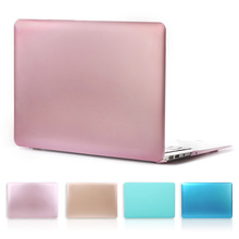 Nuevo oro rosa mate del Color del Metal duro portátil Case para Macbook Air 13 11 nuevo Macbook Pro 13 15 con pantalla Retina cubierta de la caja