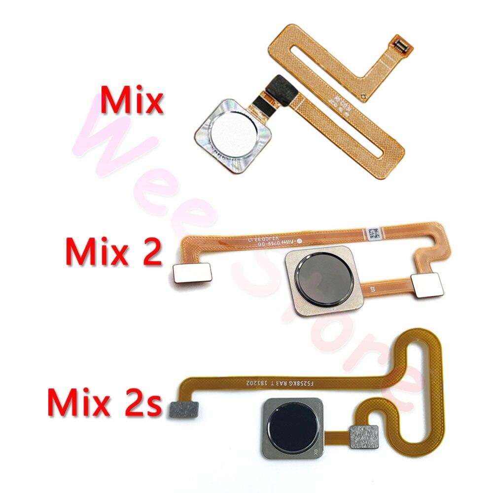 Original Back Home Button Fingerprint Sensor Flex Cable For Xiaomi Mi Mix 2 2s Home Flex