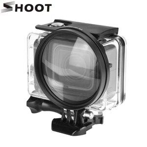 Image 1 - SHOOT 58mm grossissement objectif rapproché objectif Macro pour Gopro Hero 7 6 5 noir coque étanche dorigine Go Pro 6 5 7 accessoires
