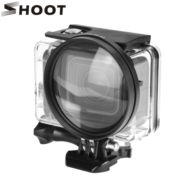 SHOOT 58mm grossissement objectif rapproché objectif Macro pour Gopro Hero 7 6 5 noir coque étanche dorigine Go Pro 6 5 7 accessoires