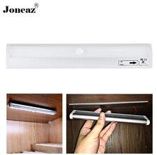 Led under cabinet light with motion sensor and light sensor battery powered in Wardrobe trunk closet aluminum shell Joneaz