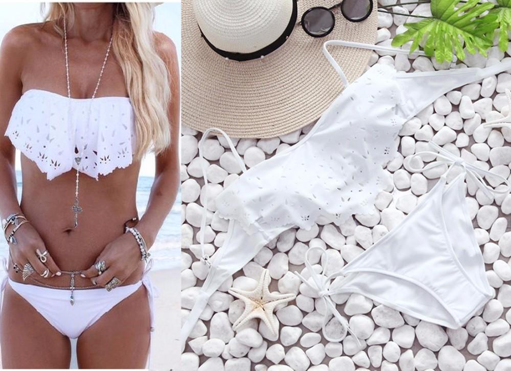Swimwear Women Swimsuit Push Up Swimwear Female 19 Sexy Bandeau Bikini Ladies Brazilian Beach Bathing Suit bandage Bikini Set 3