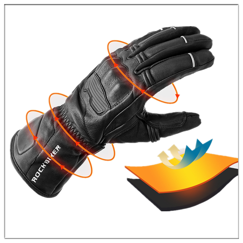 Revit winter warm waterproof gloves Motorcycle gloves cycling gloves Guantes moto invierno leather Gants M-XXL ROCK BIKER 2018 кольца гимнастические крепыш