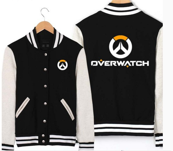 Overwatch Black Baseball Jacket DVA Lucio Hanzo Mccree Genji Cosplay Costume Couple Coat Jacket