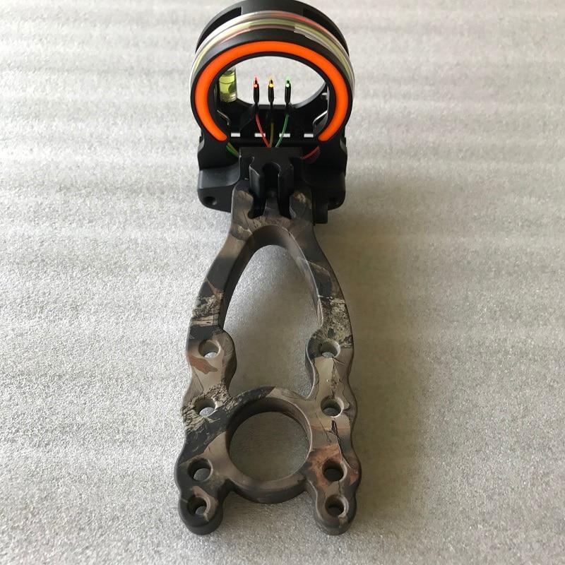 1pc bow sight 3 PIN RH Fiber Opticsight ARIES CAMO BOW SIGHT archery bow accessories free