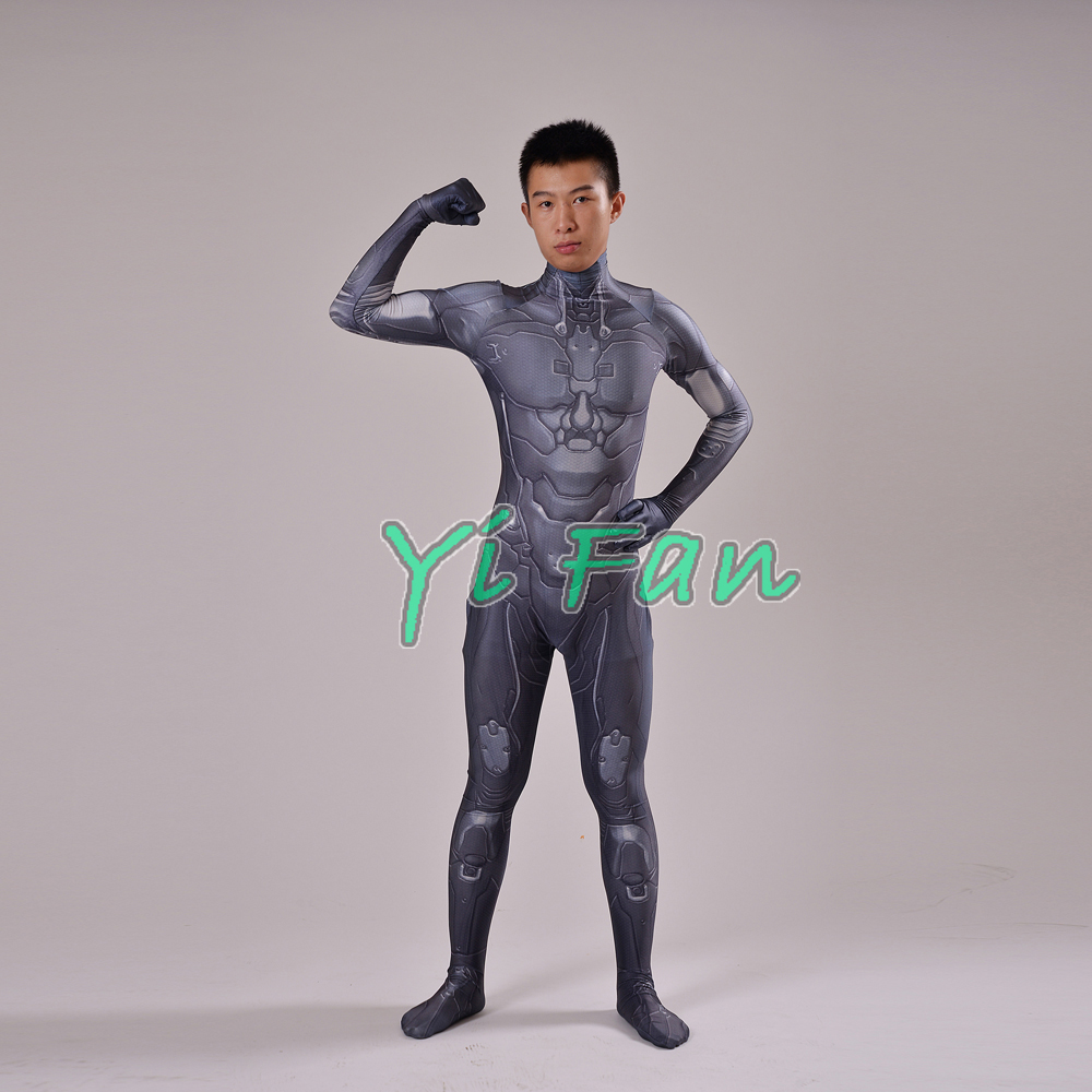 3D Print Male Halo Master Chief Game Cosplay Costume Spandex Games Zentai Bodysuit Freeshipping Custom Made Hot Sale image