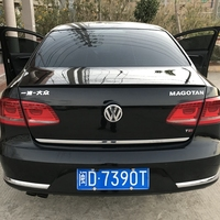 use for volkswagen passat B7 spoilern2012 2016 model passat spoiler High Quality ABS Material Car Rear Wing Primer Color spoiler