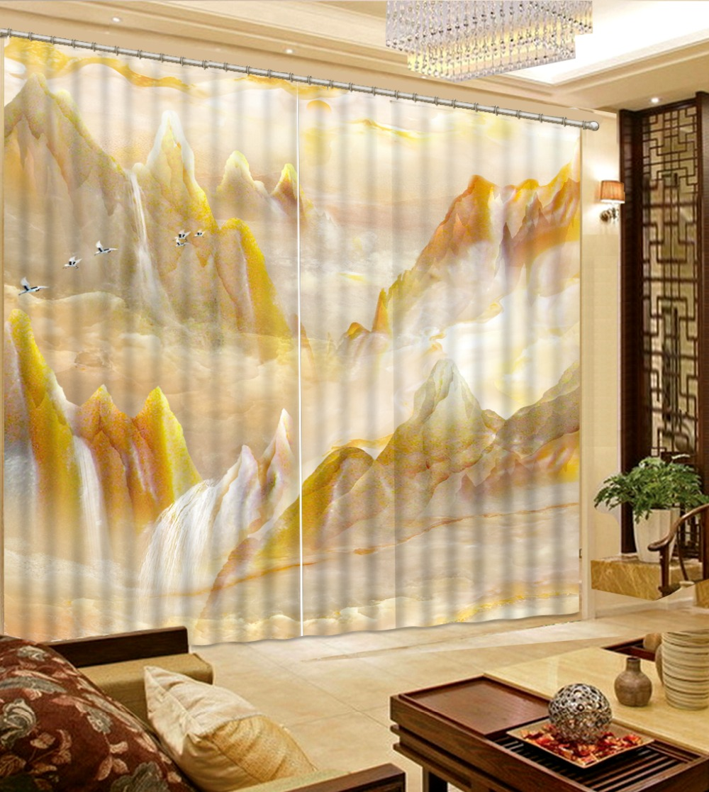 Bedroom Curtains Custom Marble Window Curtains For Living Room Bedroom Kitchen Curtains Home Window Decoration