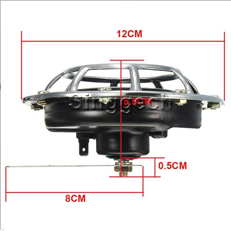 ZD 2X Car styling For Kia Rio 3 Ceed Toyota Corolla 2008 Avensis C-HR RAV4 Mazda 3 6 Air Red Horn alarm loudspeaker Blast Tone