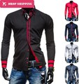 2016 Sale Camisas Masculina Men Fashion Shirts Free Shipping Long Sleeve Turn-down Collar Casual Solid Color 5 M-xxl ,gxa8727