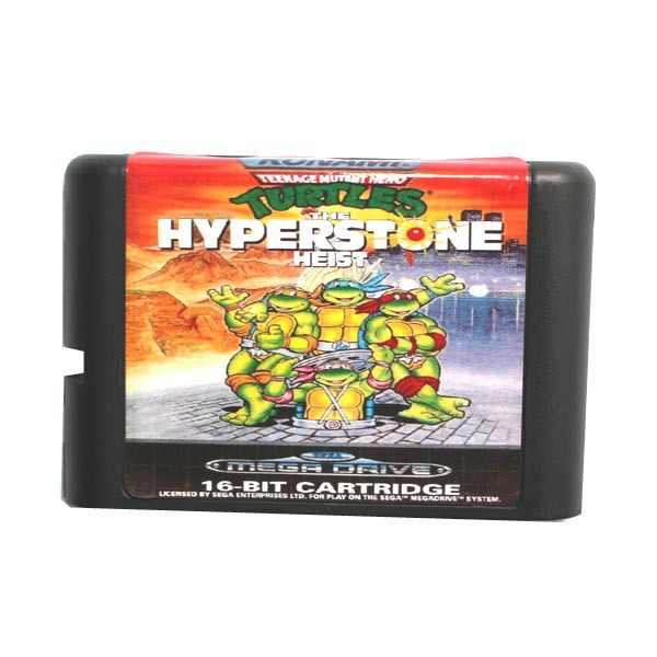 Sega MD game card - Teenage Mutant Ninja Turtles Hyper Stone Heist for 16 bit Sega MD game Cartridge Megadrive Genesis system