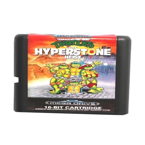 Sega MD carte de jeu-Teenage Mutant Ninja Turtles Hyper Pierre hold-up pour 16 bits Sega MD jeu Cartouche Megadrive Genesis système