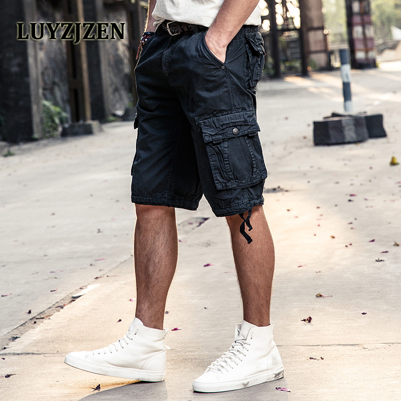 2017 Men's Cargo Work Casual Shorts Hot Summer Men Fashion Joggers Overall Squad Match Calf-Length Wear Homens Plus size 27