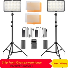 Led video light Kit 240 LED photography Lighting Dimmable Ultra High Power Panel Digital Camera DSLR Camcorder with light stand цена и фото