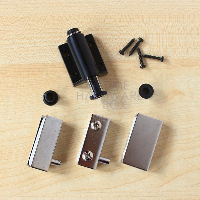 Cabinet Cupboard Glass Door Magnetic Catch Set Single Latch Press Open
