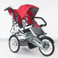 Baby Stroller Twins Folding Three Wheels Bicycle Pram Two Kids Trolley Child Bike Carriage Kids Not Taga Bicycle Stroller