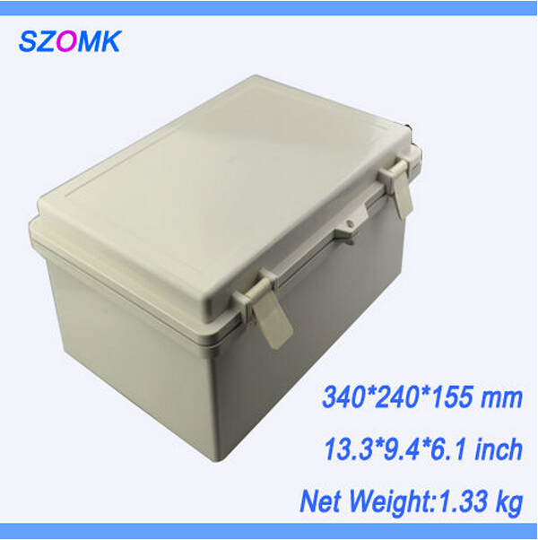 1 pcs, IP65 waterproof enclosure 340*240*155mm electronics outlet enclosure, high waterproof junction boxes instrument enclosure 1 pcs szomk electronics boxes instrument waterproof enclosure 290 190 140mm electrical junction box abs switch box